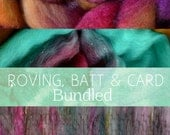 ROVING, BATT & CARD Spinning Books Bundle - Roving (Combed Top),  Batt (Spinning Batt) + Drum Carding (Art Batt and Smooth Batt)