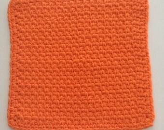 Orange Dish cloth/Wash cloth