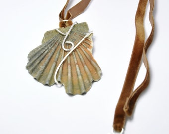 Sterling silver and real sea shell necklace
