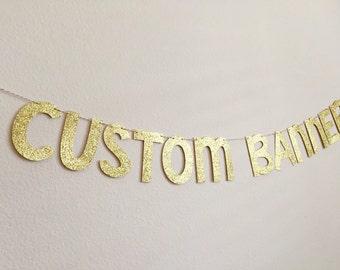 "CUSTOM Banners, 6"" 21st birthday banner, Bubbly Bar Banner, Bachelorette Party Banner, Sweet 16 Banner, Girlboss Banner, birthday bunting"