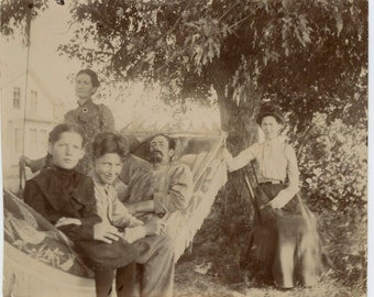 Summer Afternoon, 1908 Vintage Snapshot Photo (511433)