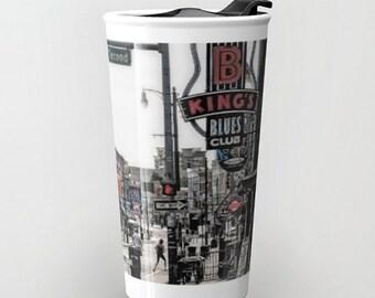Travel Mug Coffee Mug Beale Street Memphis Tennessee Street Scene