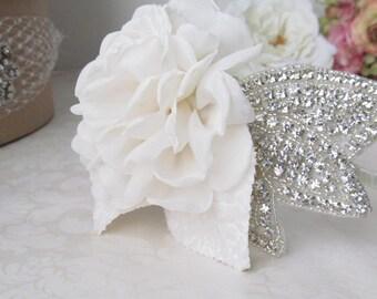 Floral Bridal Headband / Rhinestone Bridal Headband / Crystal Headpiece