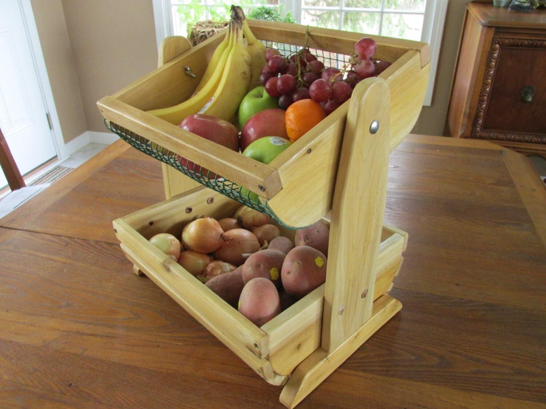Countertop Vegetable Storage : Fruit/vegetable countertop storage and display bins