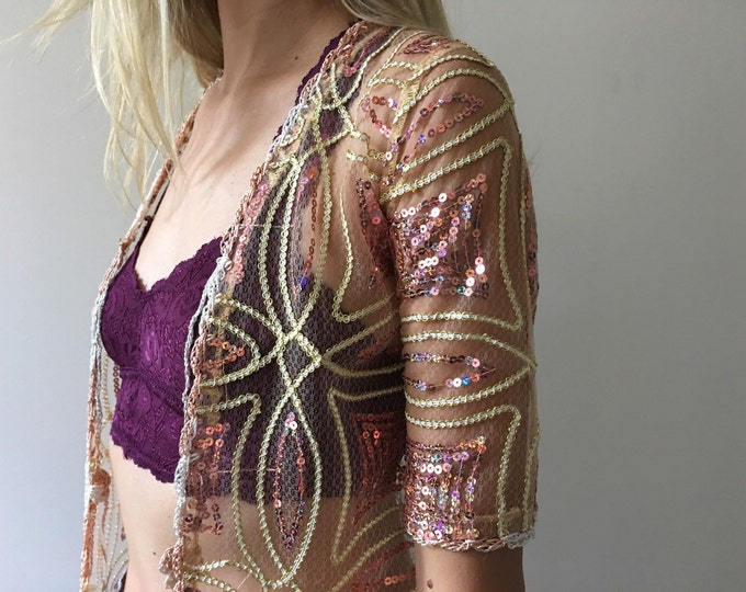 Vintage Sequin Duster