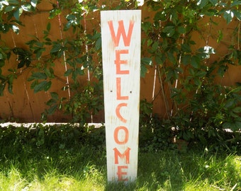 Pallet Sign - Welcome Sign, Yard Art, Welcome Words, Pallet Sign, Wood Sign, Garden Art, Pallet Art