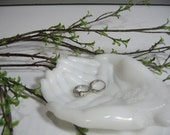 Avon Milk Glass Hands Dish, Hands Bowl,  Trinket Holder, Soap Dish, Jewelry Holder