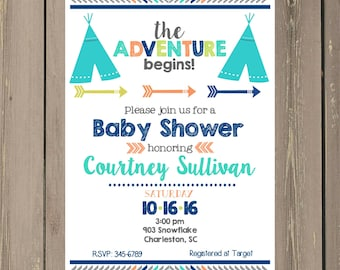 pumpkin baby shower invitations printable or by noteablechic