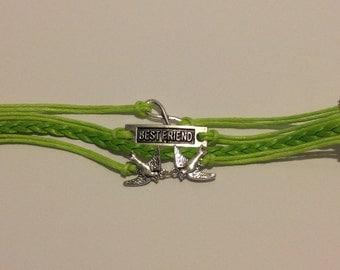 1pc Lime Green Bestfriend infinity friendship bracelet