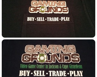 Custom business Tshirt, double sided logo tshirt