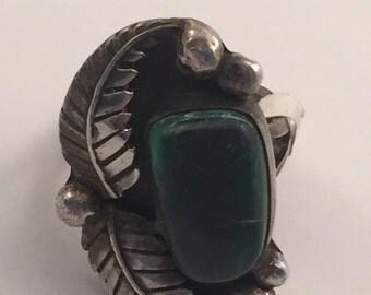 Vintage Bisbee Bob Sterling Turquoise? ring 7