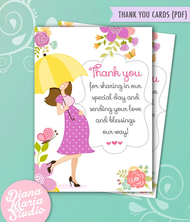 thank you cards baby shower umbrella baby shower thank yous