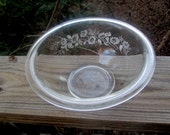 SOLD pyrex clear colonial mist large glass mixing bowl part of set cornng ny SOLD