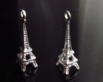 Eiffel Tower Charms in Silver Eiffel Tower Pendant Paris France - CH0085