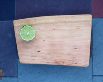 Footed Black Cherry with Live Edge- Serving and Cutting Board - 5th Anniversary Gift - Unique Wedding Gift  725