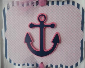 Baby Girl Hopsital Banner - Baby Gir Shower - Anchor Baby Shower - Birth Announcement - Anchor Baby Girl Sign