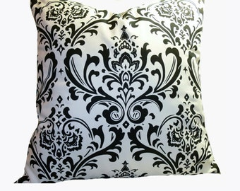 PILLOW and SHAM Cover - Pillow Cover King Queen Euro Reg. 12 16 18 20 24 26  DecorativeThrow Pillow Tradition Black and White