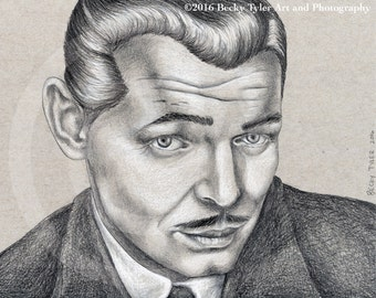 Clark Gable Original Drawing