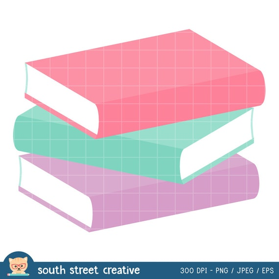 Books Stack of Books Reading Cute Clipart by ...