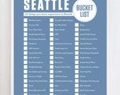 Seattle Bucket List Wall Art Print