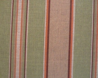 OUTDOOR Pillow Cover / Tan and Olive Stripe Print / Pillow Cover