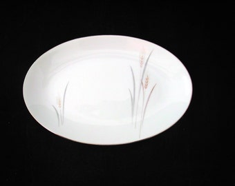 Fine China of Japan Platinum Wheat Relish or Under Plate Vintage 1950s / 1960s Max Schonfeld