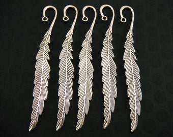 Silver Feather Bookmarks (Quantity of 5) MISC003