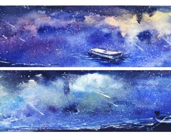1 Roll of Limited Edition Washi Tape: Starry Night in the Sea