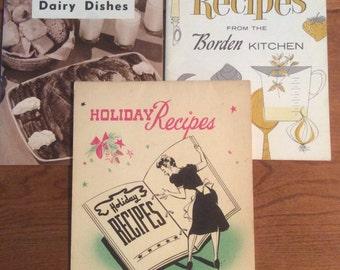 Vintage Cooking Booklets-Set of 3