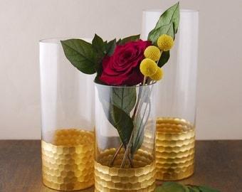 Bridal Shower Decoration, Wedding Decoration; Gold Vases; Wedding Centerpieces