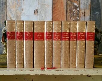 Vintage Set of Ten Black's Readers Service Books / Book Collection / Bookshelf Decor / Instant Collection / Photo Props / Decorative Books