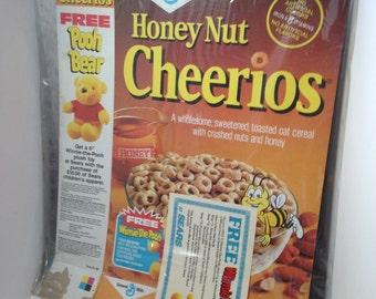 Vintage Cereal Box Honey Nut Cheerios