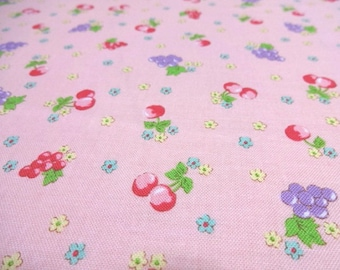 Japanese Fabric YUWA Cutie Fruits Pink  Fat Quarter