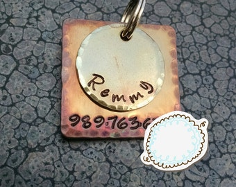 Hand Stamped Pet Tag  Pet ID Tag Dog Tag Dog ID Tag Dog Name Tag