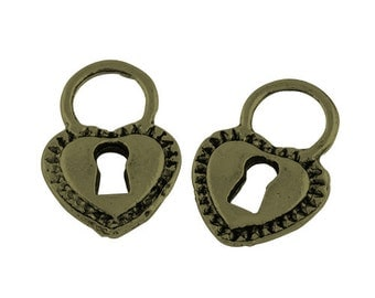 Lock Charms Steampunk Antiqued Bronze Locks Wholesale Charms Wholesale Pendants 50 pieces Steampunk Charms