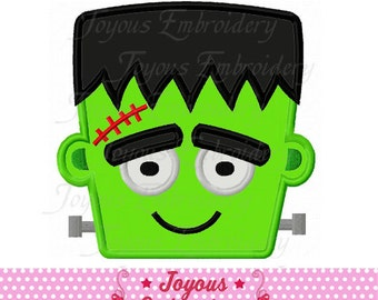 Instant Download Halloween Frankenstein Applique Machine Embroidery Design NO:2190