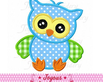 Instant Download Cute Baby Owl Applique Embroidery Design NO:2014