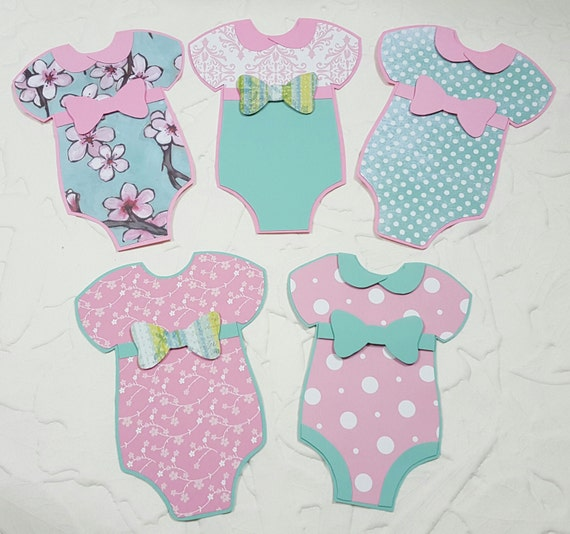 Baby Girl Onesie Cut outs Onsie Paper Crafts by ...