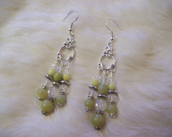 Jade Chandelier Earrings
