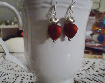 Red Heart Earrings - Free Shipping