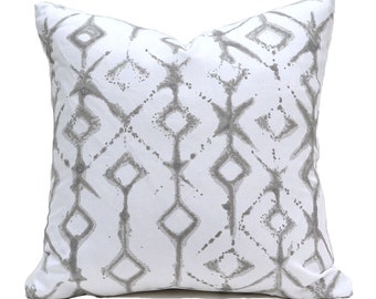 Pillow Covers ANY SIZE Pillow Cover Grey Pillow Cover Premier Prints Tribal Ecru