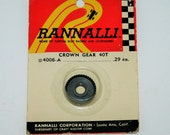 Vintage 40 Tooth Slot Car Crown Gear by RANNALLI #4006-A
