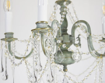 "Chandelier ""Liana"", shabby chic Chandelier, Luster"