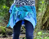Faery Skirt Wrap-Around......Unique One-Off Piece, One Size Fits all, Gypsy, Faery, Elven, Pixie, Alternative, Woodland, Psy, Boho, Fae
