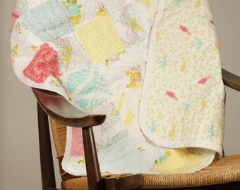 Vintage Chenille baby blanket