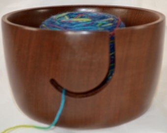 872 Yarn bowl, made from Sapele