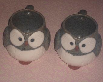 Vintage Pair of OWL MUGS