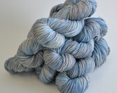 Hand dyed yarn pick your base - Storm - sw merino cashmere nylon fingering dk worsted