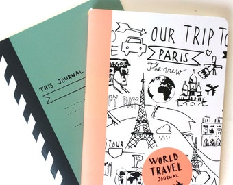 Set of 2 Passport-sized Travel Notebooks