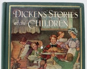 Charles Dickens' Stories About Children / Book Decor / Vintage Book / Charles Dickens / Holiday Reading / Gift Idea